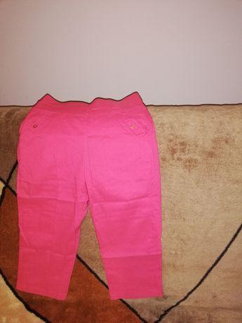 Spodnie 3/4 różowe