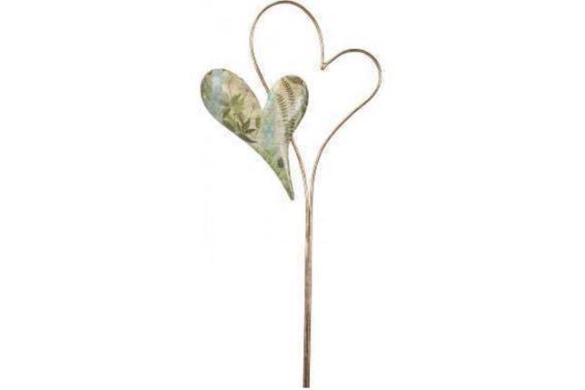 serce metalowe złote do ogrodu 105 cm