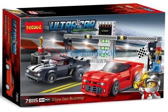 Конструктор Decool 78115 Lego Speed Champions 75874 Гоночная трасса Ше