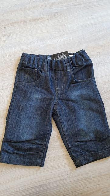 Spodnie krótkie jeansy 122 cm