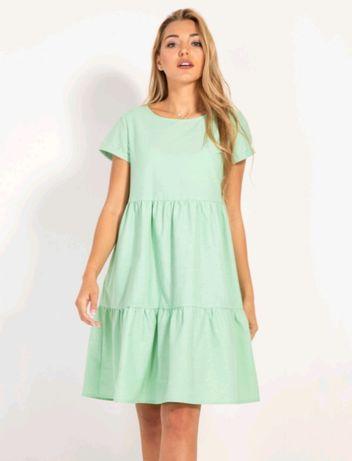 Платье бохо мятного цвета для беременных