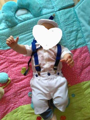 Ubranko do chrztu dla chłopca rozmiar 80-86 cm