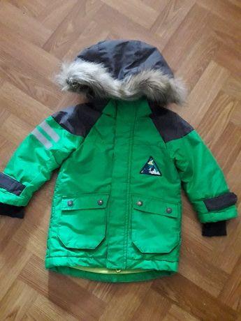 Зимняя куртка для мальчика h&m sport на 1.5-2 года (92 см)