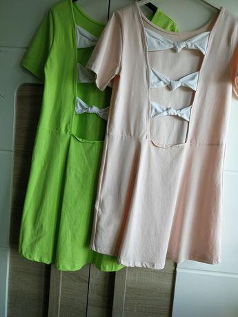 sukienki damskie nowe kokarda plecy