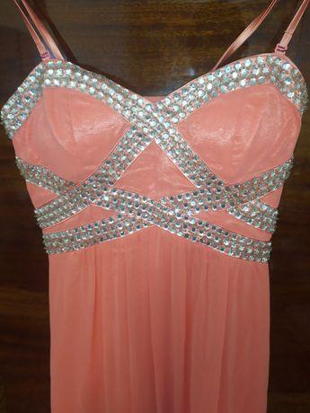 Платье, вечернее, выпускное, свадебное,  розовое, длинное.