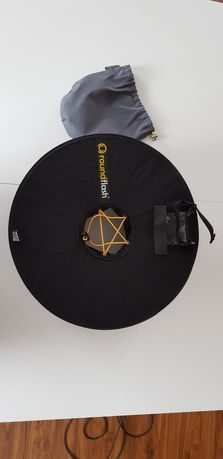 RoundFlash Ring dyfuzor pierścieniowy na lampę reporterską i aparat.