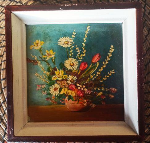 Dwa obrazki (kwiaty)