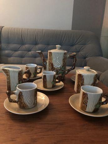Serwis kawowy - koreańska porcelana, DPRK