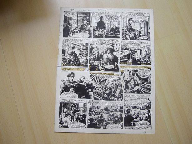 Página ORIGINAL de Banda Desenhada de Reg Bunn.