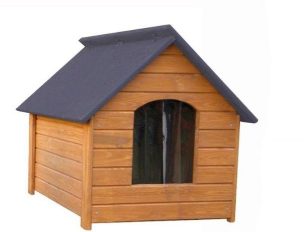 Buda drewniana dla psa ocieplona uchylny dach