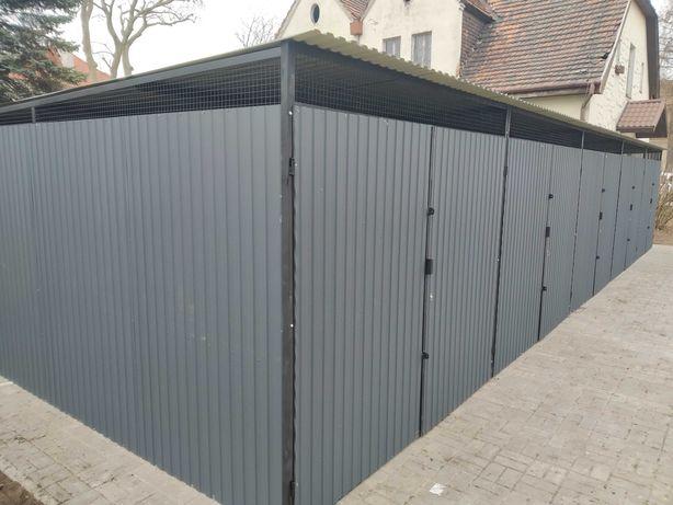 Konstrukcie stalowe, garaże, śmietniki