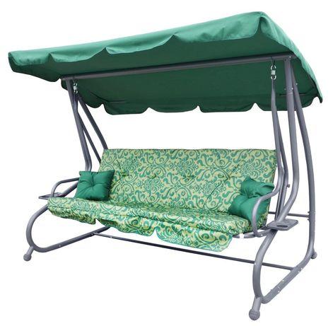 Садовая качеля-диван Ramiz раскладная новый дизайн 3 цвета НАЛОЖКА