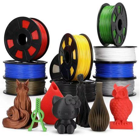 Filamento PLA para impressora 3D de 1.75 mm de 1 kg - varias cores