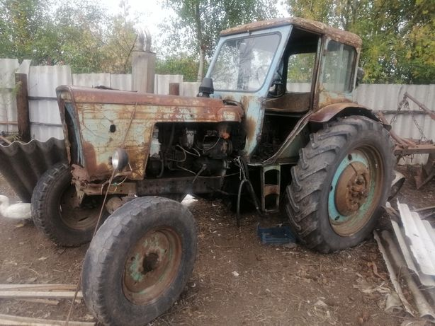 Трактор МТЗ 50 (мотор мтз 80) в комплекте с плугом и ковшем