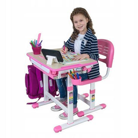 Biurko dla dzieci + Krzesełko FUNDESK zestaw Bambino Pink Kraków