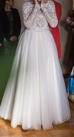 Suknia w stylu boho rozm. 36/38 + welon