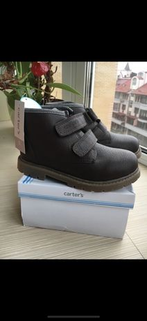 Кожаные ботинки Oshkosh 30р, 18.5см, полуботинки carters, ботинки ecco