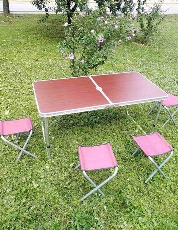 Стіл розкладний  садовий  , 4 стільця