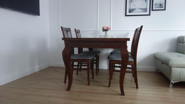 Stół drewniany ludwik plus 6 krzeseł