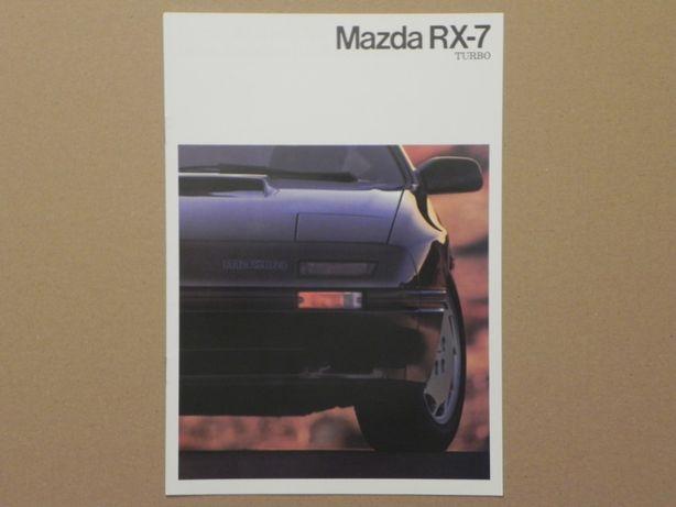 Prospekt - MAZDA RX-7 TURBO - 1987 r