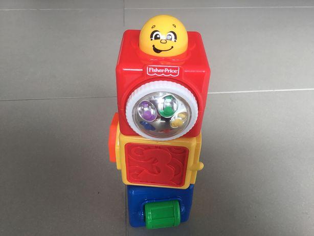 Fischer Price aktywne klocki, zabawka edukacyjna