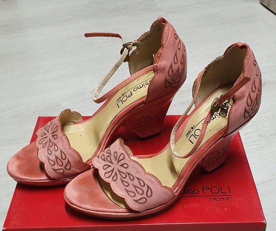 Włoskie buty różowe rozm 39