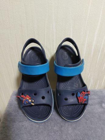 Crocs + джибитсы оригинал 13С кроксы на мальчика 29 30 размер крокси