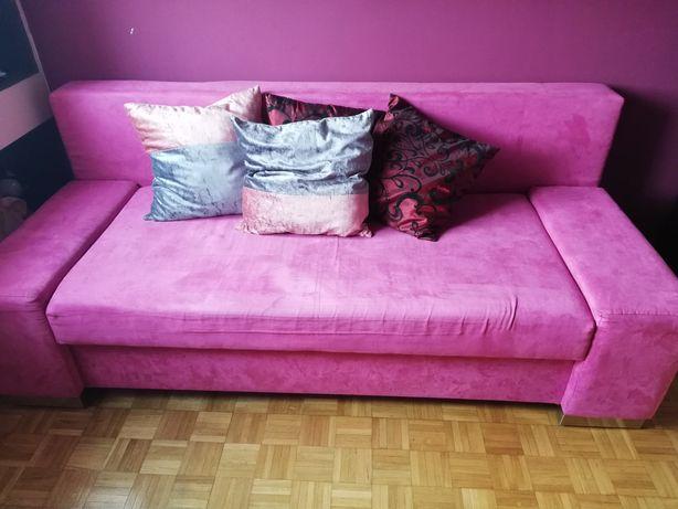 Łóżko kanapa z pojemnikiem na sprężynach