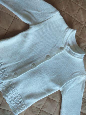 Biały sweter 98 JAK NOWY