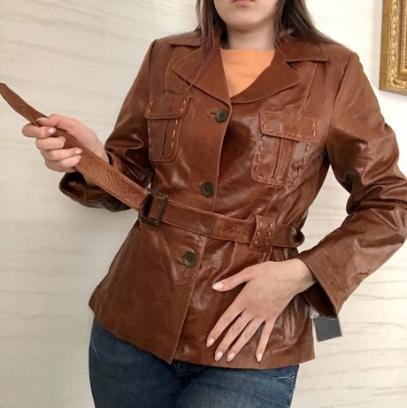 Шкіряна куртка, нова з бірками