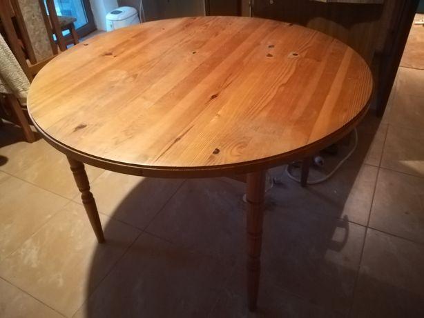 Stół drewniany okrągły.