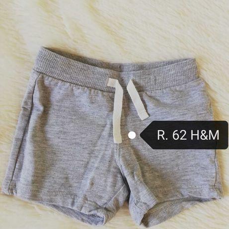 Krótkie spodenki  H&m dla chłopca r 62