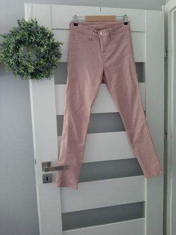 Spodnie jeansowe H&M pudrowy róż, rozm. 28