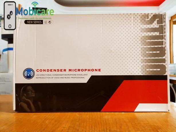 Microphone condenser com mini mesa de mistura - novo - selado - loja