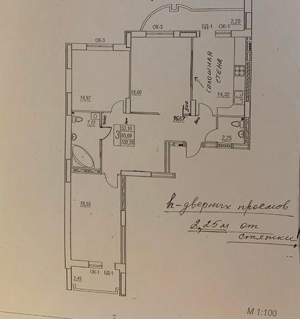 продам 3-х комнатную квартиру с кладовкой в ЖК Новые Черёмушки