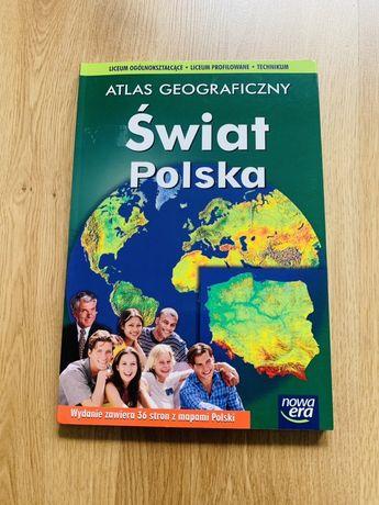 Atlas geograficzny świat Polska nowa era