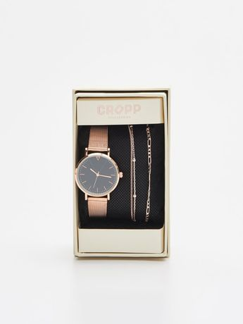 Комплект: женские часы и браслет