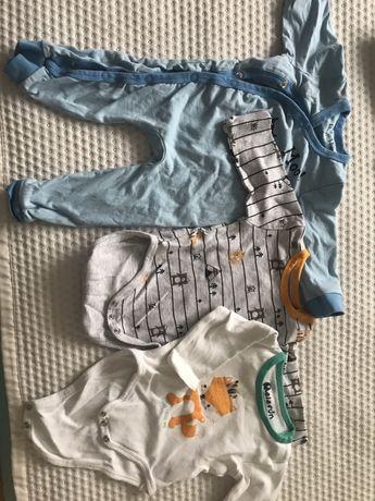 Ubranka chłopięce - pajacyk + 2 szt body długi rękaw