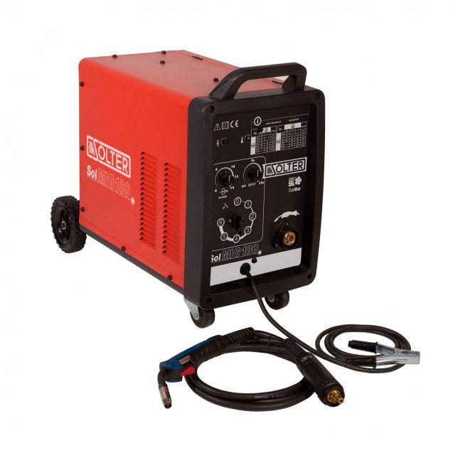 Maq. SoIdar Semi-Automática MIG SOLTER 155A Fio 0,6 - 1,0 mm