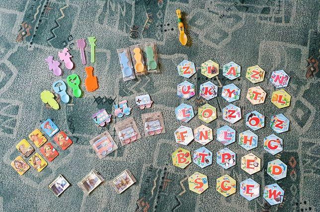Magnesy dla dzieci - Hugo, Danonki alfabet, cyfry, łyżeczki do lodów