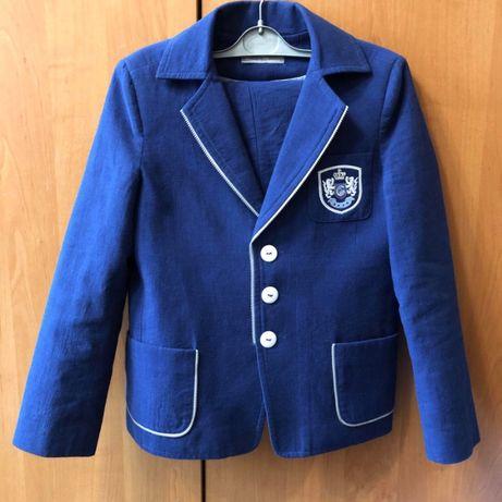 Костюм для мальчика брюки и пиджак 134
