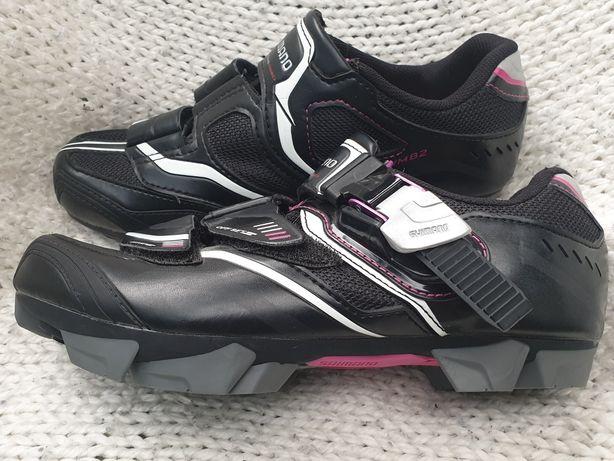 Damskie buty rowerowe SHIMANO SH-WM82 MTB Rozmiar 38, dł wkładki 24,5