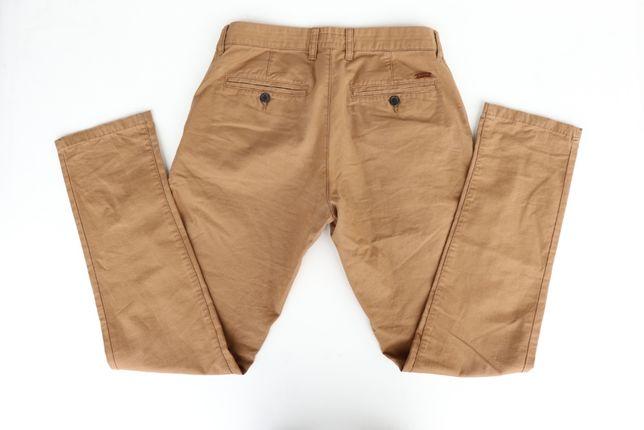 Męskie spodnie chinosy SMOG (New Yorker) r. 31 brązowe. Stan Idealny