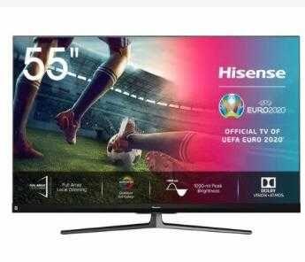 Smart TV Hisense_55U8QF_NOVA/sem uso.