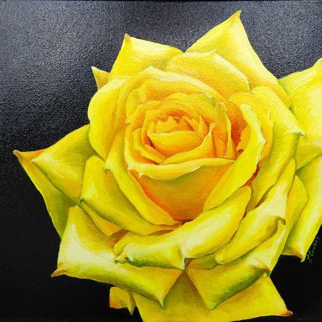 """Картина маслом """"Королева квітів"""""""