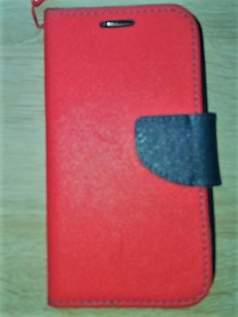 etui na telefon typ książeczka kolor czerwony