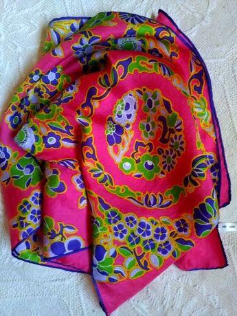 Платки брендовые натуральный шелк