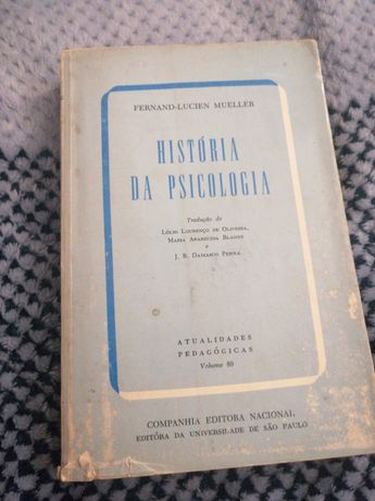 Livro - A história da psicologia - Fernand-Lucien Mueller