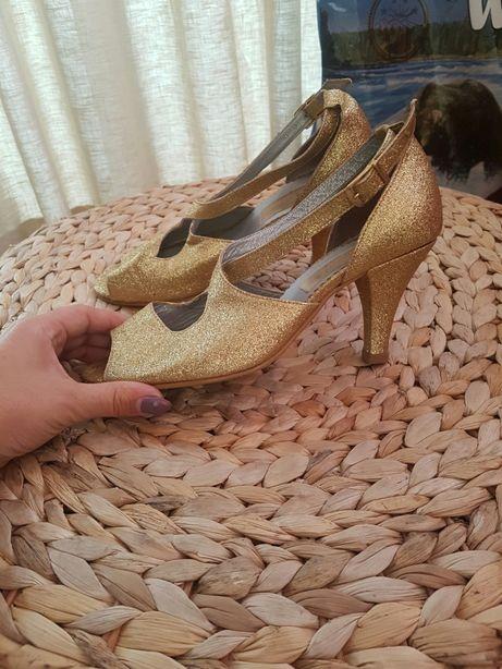 Sapatos Dança dourados exclusivos Tm 35