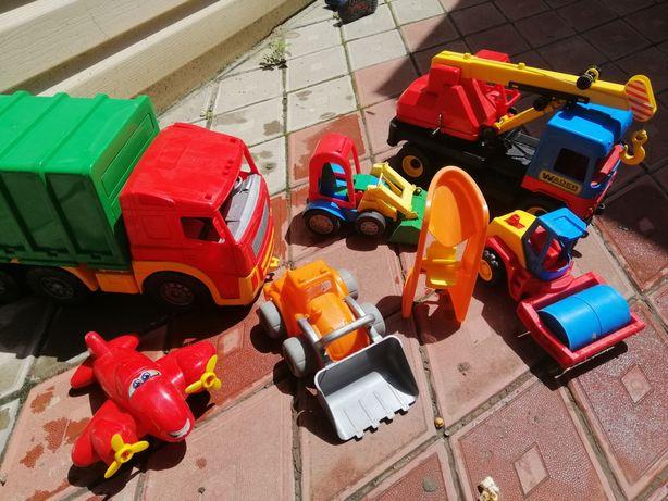 Игрушки для улицы песочницы, грузовик, подъёмные кран wader